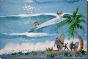 John Severson Surf Paintiing, courtesy of Calarts.com