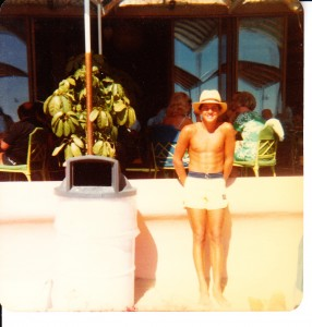 Royal Hawaiian Hotel...Mid-70's..check out those custom Quiksilver boardies